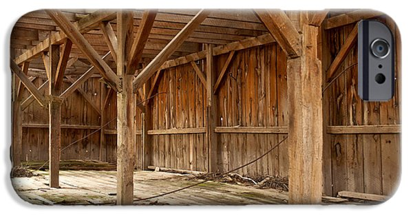 Old Barn iPhone Cases - Old Barn Interior iPhone Case by Storm Smith