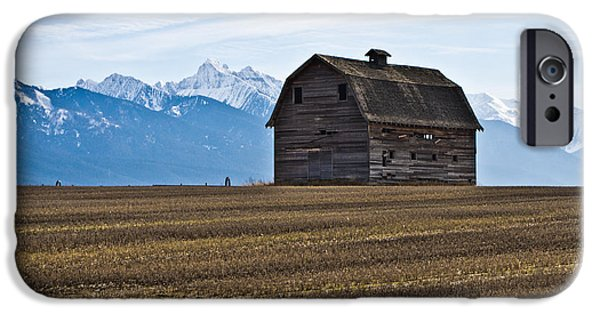 Old Barn iPhone Cases - Old Barn, Mission Mountains 2 iPhone Case by Jedediah Hohf