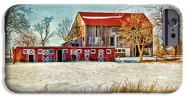 Dismantled iPhone Cases - Old Barn on Forrest Road iPhone Case by Carolyn Derstine