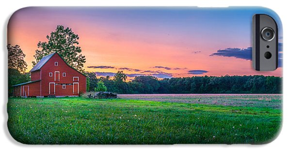 Panoramic Pyrography iPhone Cases - Old Barn iPhone Case by Paul Gretes