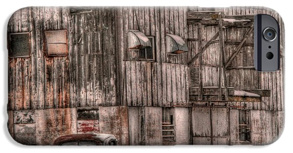 Old Barn iPhone Cases - Old Barn Redux iPhone Case by David Bearden