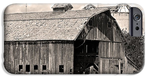 Barn Print Photographs iPhone Cases - Old Boulder County Colorado Barn iPhone Case by James BO  Insogna