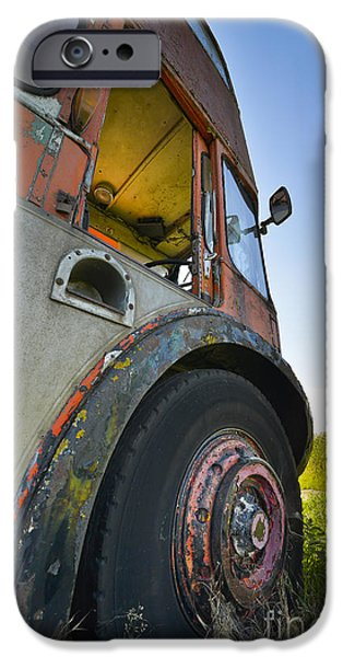 Rust iPhone Cases - Old Bus iPhone Case by Svetlana Sewell