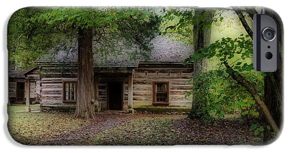 Grist Mill iPhone Cases - Old Cabin iPhone Case by Sandy Keeton
