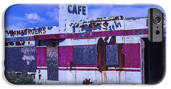 Boarded Up iPhone Cases - Old Cafe Rout 66 iPhone Case by Garry Gay