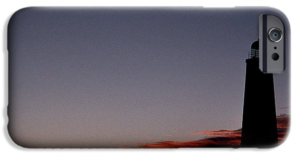 Lighthouse iPhone Cases - Old Cape Henry Sunrise iPhone Case by Skip Willits