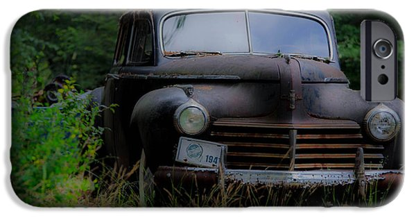 Old Cars iPhone Cases - Old Car 1941 iPhone Case by Linda  Howes