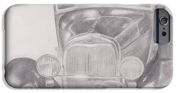 Old Cars iPhone Cases - Old Car iPhone Case by Dana Pedersen