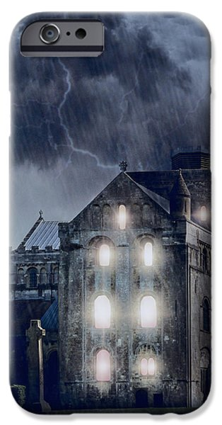 Creepy iPhone Cases - Old Church iPhone Case by Joana Kruse