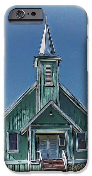 Buildings Mixed Media iPhone Cases - Old Church iPhone Case by Pamela Walton