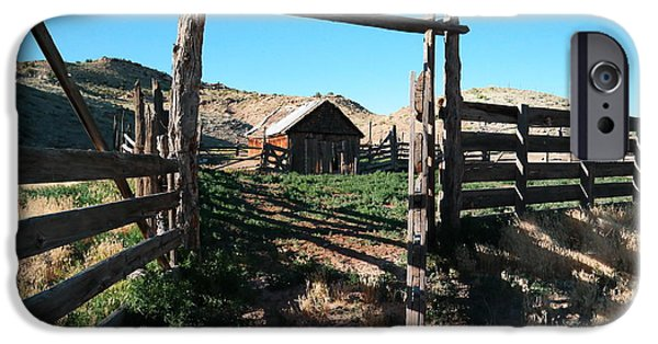 Buildings iPhone Cases - Old Colorado Ranch iPhone Case by Jeff  Swan
