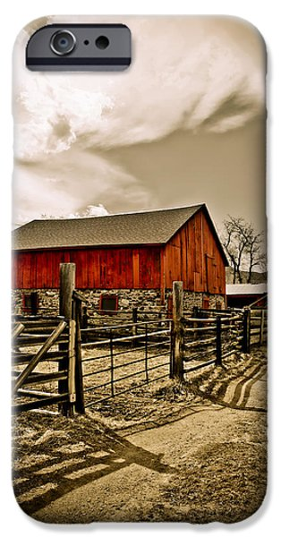 Old Country Farm iPhone Case by Marilyn Hunt