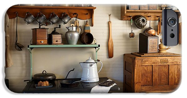 Crocks Photographs iPhone Cases - Old Country Kitchen iPhone Case by Carmen Del Valle