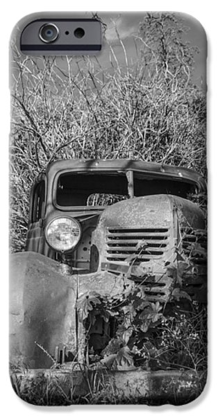 Old Cars iPhone Cases - Old Dodge iPhone Case by Brent Magill