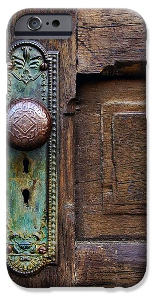 Antiques iPhone Cases - Old Door Knob iPhone Case by Joanne Coyle