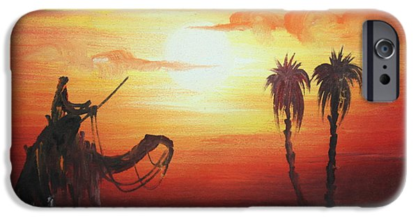 With Pyrography iPhone Cases - Old Egyptian iPhone Case by Amr Rhem