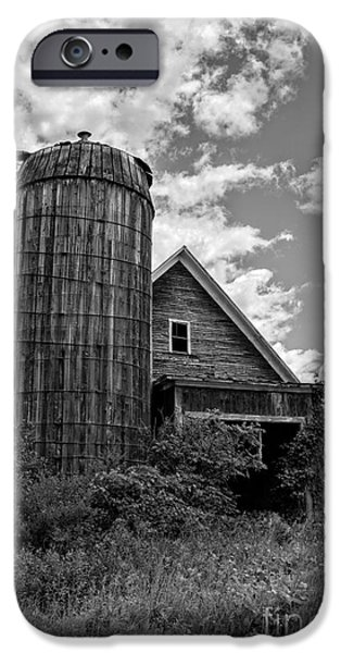 Agricultural iPhone Cases - Old Ely Vermont Barn iPhone Case by Edward Fielding