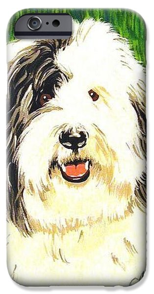 Black Dog iPhone Cases - Old English iPhone Case by Jackie Carpenter