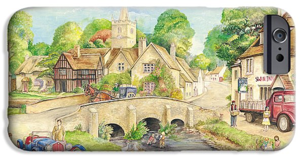 Briton iPhone Cases - Old English Village iPhone Case by Morgan Fitzsimons
