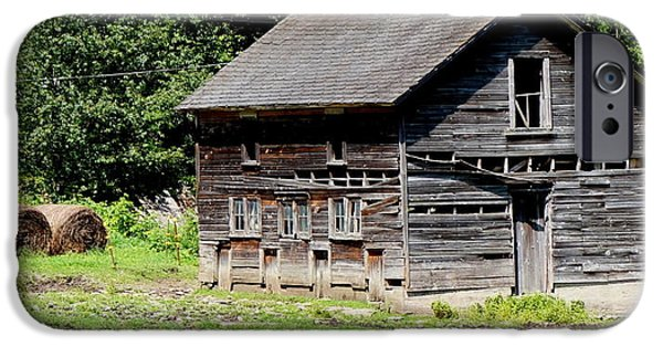 Old Barn iPhone Cases - Old Farm Building iPhone Case by Georgia Brushhandle