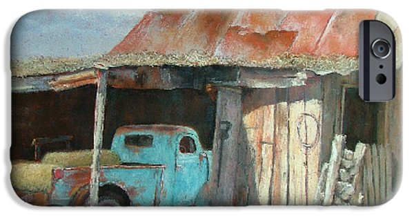 Best Sellers -  - Shed Pastels iPhone Cases - Old Farm Truck iPhone Case by Howard Scherer