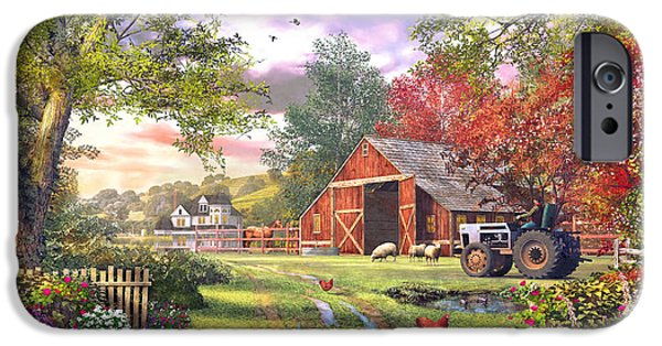 House iPhone Cases - Old Farmhouse iPhone Case by Dominic Davison