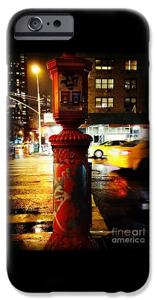 Police iPhone Cases - Old - Fashioned Fire Alarm Police Call Box - New York City iPhone Case by Miriam Danar