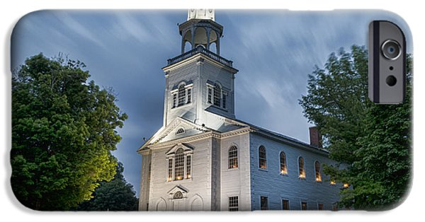 Religious iPhone Cases - Old First Church of Bennington iPhone Case by Stephen Stookey