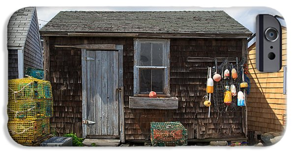 Chatham iPhone Cases - Old Fishing  houses  iPhone Case by Emmanuel Panagiotakis