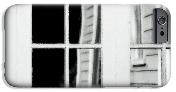 Clapboard House iPhone Cases - Old Garage Door iPhone Case by Bonnie Bruno