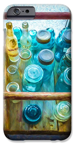Old Digital Art iPhone Cases - Old Glass iPhone Case by Robert Meyerson