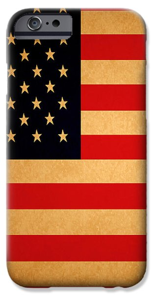 Old Glory . Square iPhone Case by Wingsdomain Art and Photography