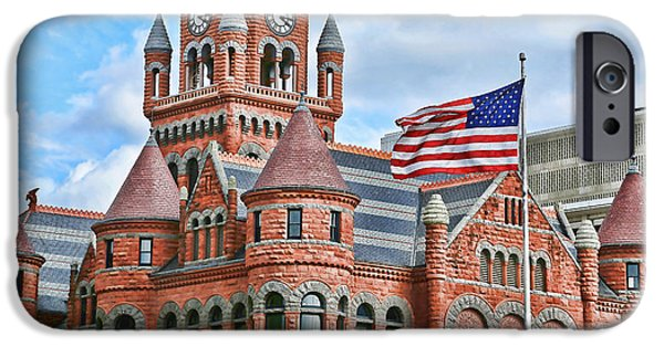 Old Glory iPhone Cases - Old Glory and Old Red iPhone Case by Stephen Stookey