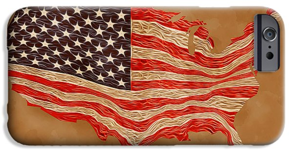 Patriots iPhone Cases - Old Glory iPhone Case by Carl Scallop