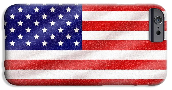 Old Glory Digital iPhone Cases - Old Glory iPhone Case by Cristophers Dream Artistry