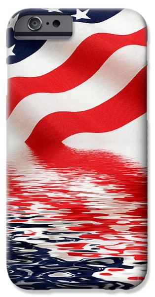 Fourth Of July iPhone Cases - Old Glory iPhone Case by Jerry McElroy