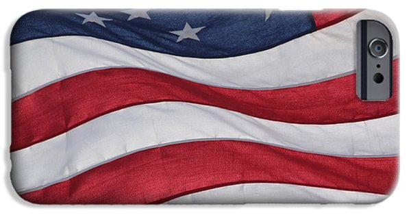 Old Glory iPhone Cases - Old Glory iPhone Case by Lauri Novak