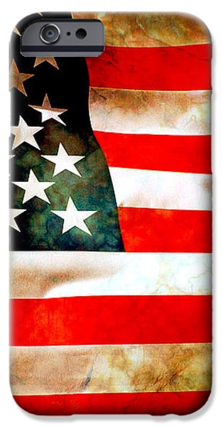 Old Glory Patriot Flag iPhone Case by Phill Petrovic