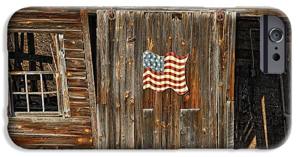 Old Barn iPhone Cases - Old Glory iPhone Case by Timothy Flanigan