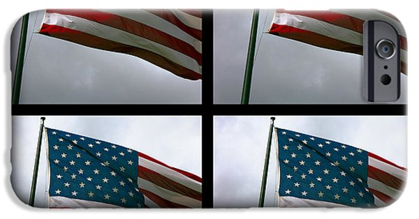 Old Glory Digital iPhone Cases - Old Glory X 4 iPhone Case by Daniel Hagerman