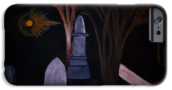 Cemetary Mixed Media iPhone Cases - Old Graves iPhone Case by Bhean Spiorad