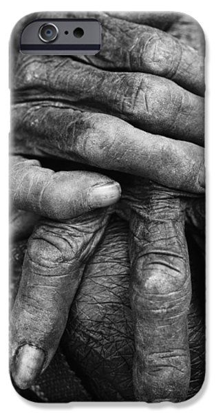 Old Hands 3 iPhone Case by Skip Nall