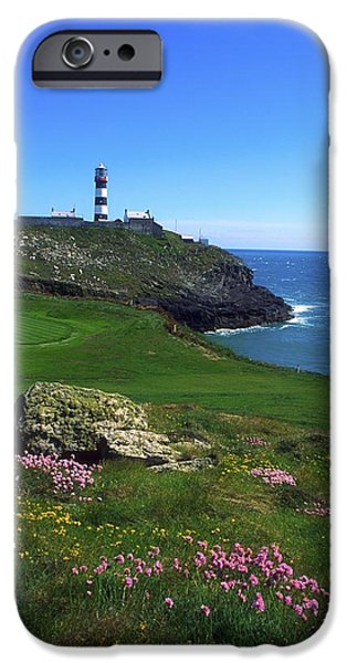 Golf Course iPhone Cases - Old Head Of Kinsale Lighthouse iPhone Case by The Irish Image Collection