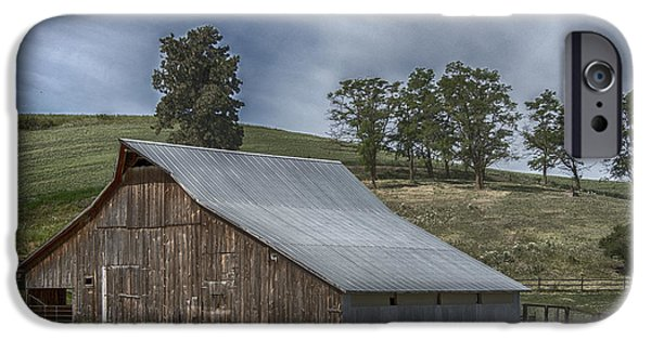 Old Barns iPhone Cases - Old Homestead iPhone Case by Roni Chastain