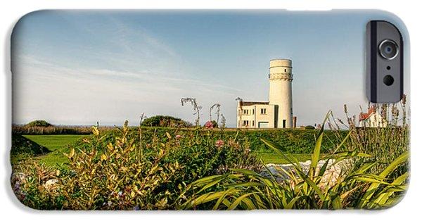 Lighthouse iPhone Cases - Old Hunstanton Lighthouse North Norfolk UK iPhone Case by John Edwards