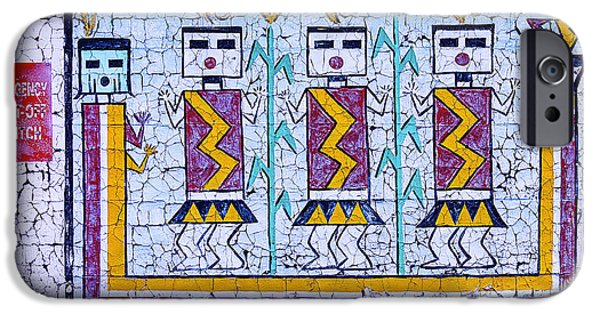 Hopi iPhone Cases - Old Indian Mural iPhone Case by Garry Gay