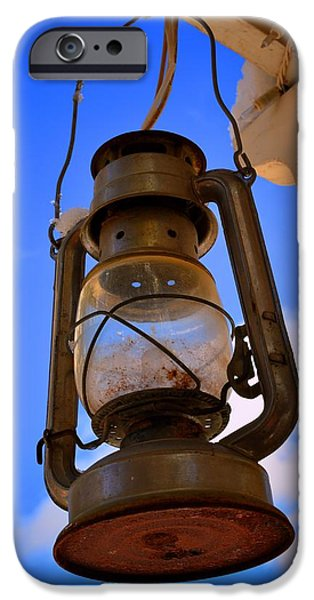 Hurricane Lamps iPhone Cases - Old Lamp iPhone Case by Dan Vallo
