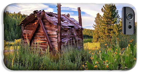 Recently Sold -  - Rural iPhone Cases - Old Lumber Mill Cabin iPhone Case by James Eddy