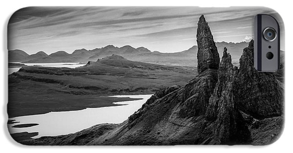 Dave iPhone Cases - Old Man of Storr iPhone Case by Dave Bowman