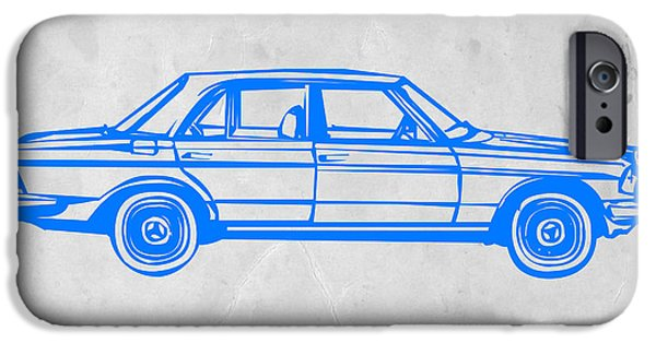 Vintage Car iPhone Cases - Old Mercedes Benz iPhone Case by Naxart Studio